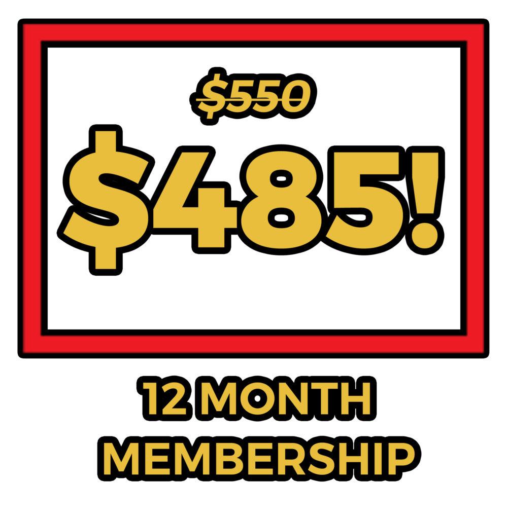 12 month membership